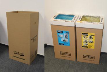 Spolupráce s obcemi: Nabídka speciálních papírových nádob na třídění odpadů do interiérů